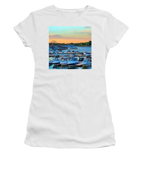 Early #evening At The Old #port Of Women's T-Shirt