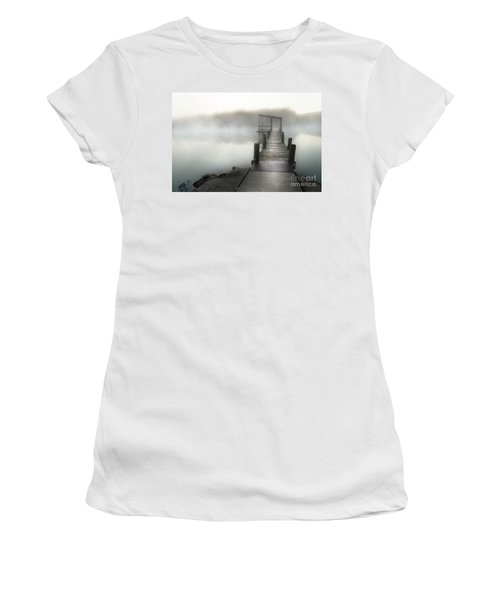 Women's T-Shirt (Junior Cut) featuring the photograph Yesterday's Early Morning Pier by Tamyra Ayles
