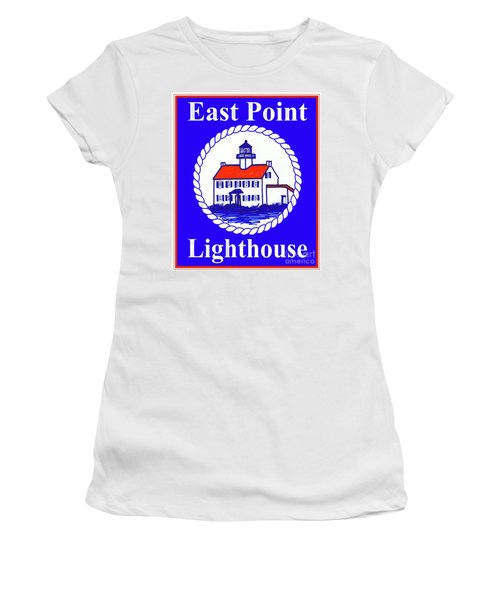 East Point Lighthouse Road Sign Women's T-Shirt (Athletic Fit)