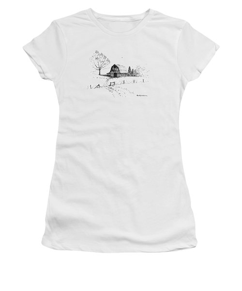 East Texas Hay Barn Women's T-Shirt (Athletic Fit)