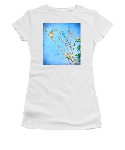 Eastern Bluebird Couple Women's T-Shirt