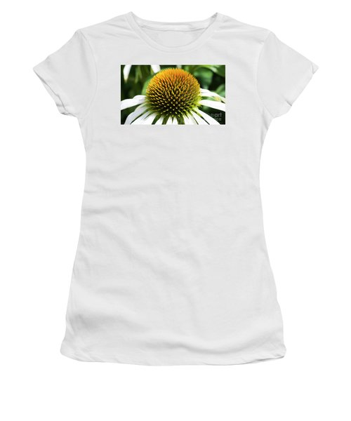 Women's T-Shirt (Athletic Fit) featuring the photograph Echinacea - Head And Shoulders by Wendy Wilton