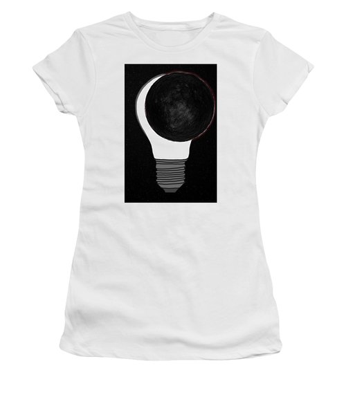 Women's T-Shirt (Athletic Fit) featuring the drawing Eclipse by John Haldane