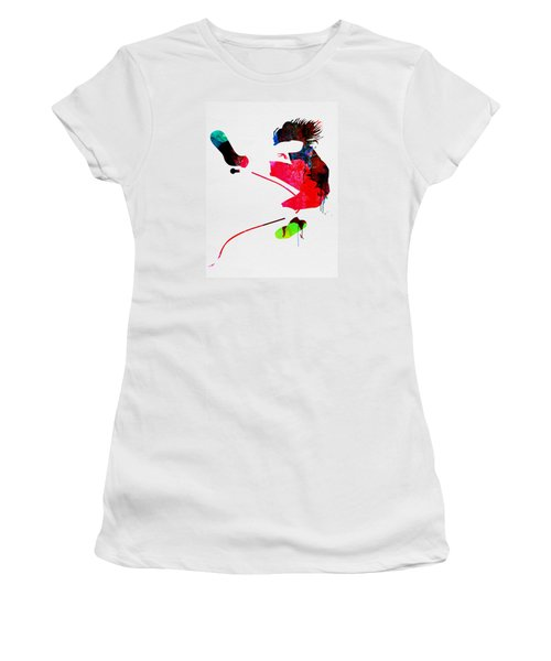 Eddie Watercolor Women's T-Shirt (Athletic Fit)