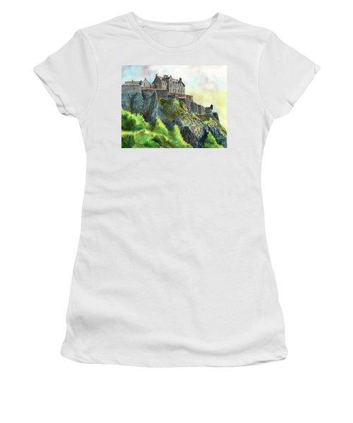 Edinburgh Castle From Princes Street Women's T-Shirt (Athletic Fit)