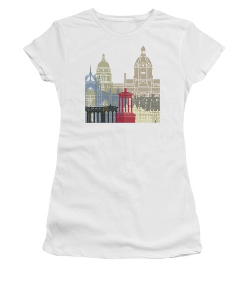 Edinburgh Skyline Poster Women's T-Shirt