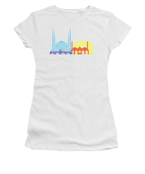 Edirne Skyline Pop Women's T-Shirt (Athletic Fit)