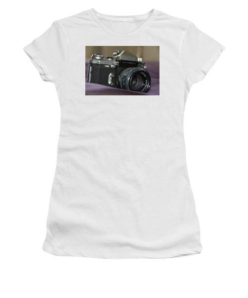 Women's T-Shirt (Athletic Fit) featuring the photograph Edixa Prismat L T L by John Schneider