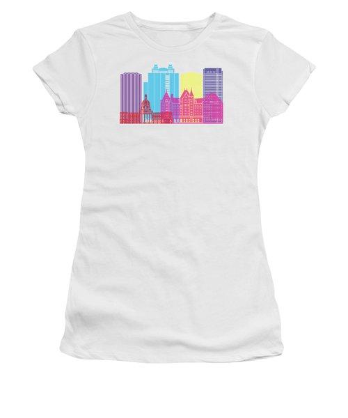 Edmonton V2 Skyline Pop Women's T-Shirt