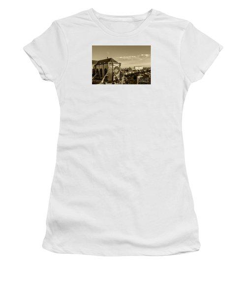 Women's T-Shirt (Junior Cut) featuring the photograph Eglise De Saint Catherine by Pravine Chester