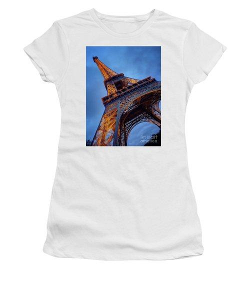 Eiffel Dressed In Gold Women's T-Shirt