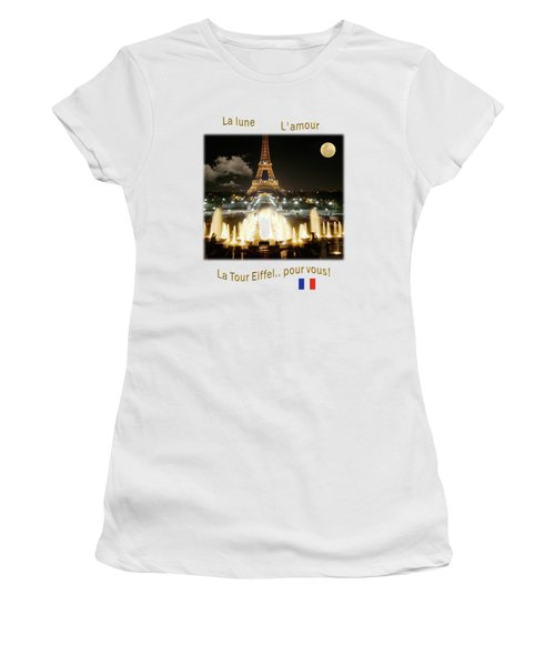 Eiffel Tower At Night Women's T-Shirt