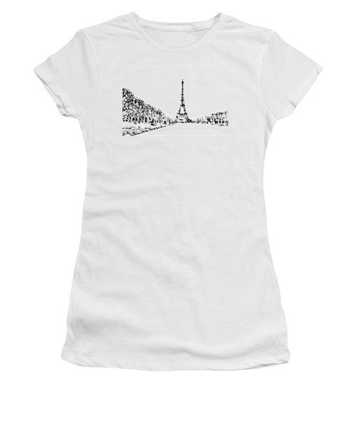 Eiffel Tower Women's T-Shirt (Junior Cut) by ISAW Gallery