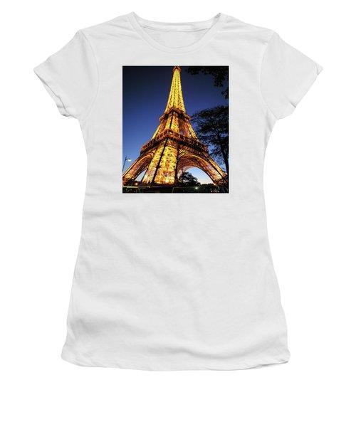 Eiffel Tower Women's T-Shirt (Junior Cut) by Jim Mathis