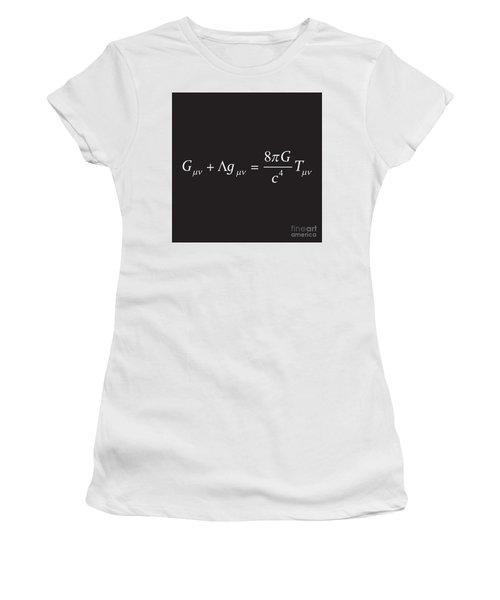 Einstein Field Equation Formula Women's T-Shirt (Athletic Fit)