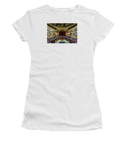 El Ateneo Grand Splendid Women's T-Shirt (Junior Cut) by Randy Scherkenbach