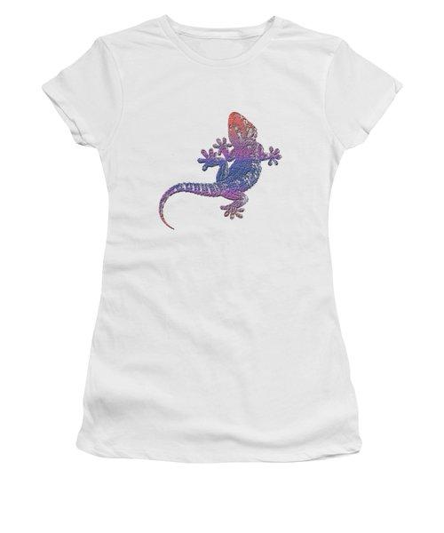 El Gecko Women's T-Shirt (Junior Cut) by Jim Pavelle