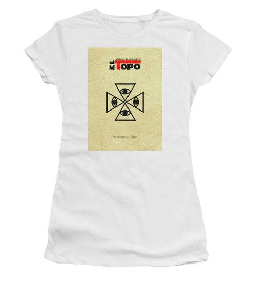 Women's T-Shirt (Junior Cut) featuring the digital art El Topo by Ayse Deniz