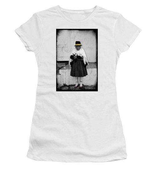 Elderly Beggar In Biblian Women's T-Shirt (Athletic Fit)