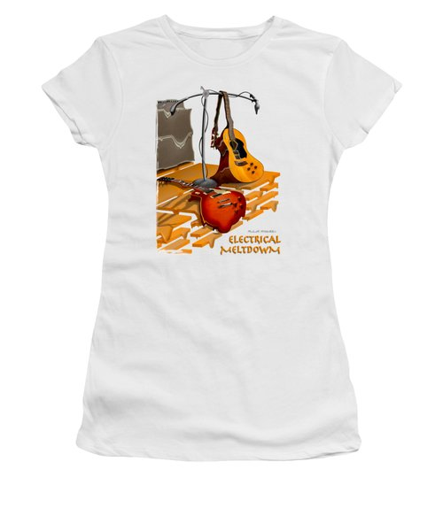 Electrical Meltdown Se Women's T-Shirt (Junior Cut) by Mike McGlothlen