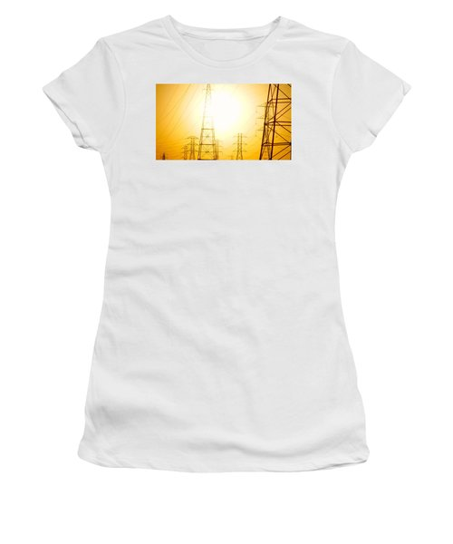 Electricity Towers Women's T-Shirt (Athletic Fit)