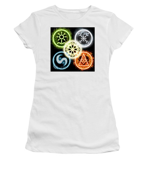 Women's T-Shirt (Athletic Fit) featuring the digital art Elements Of Nature by Shawn Dall