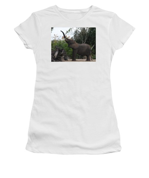 Women's T-Shirt (Athletic Fit) featuring the photograph Elephant Time by Vadim Levin
