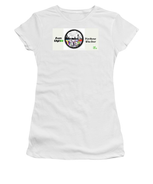 elliptiGO meets the 5 boros bike tour Women's T-Shirt (Athletic Fit)