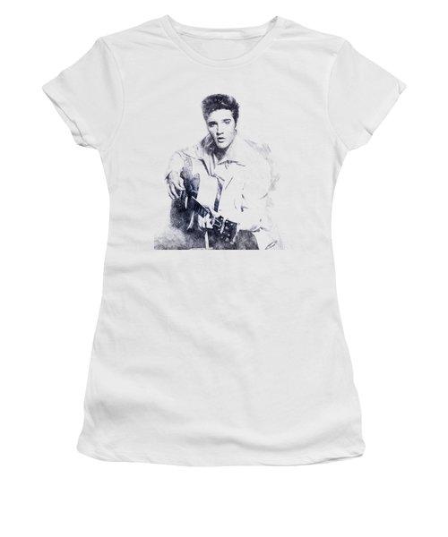 Elvis Presley Portrait 01 Women's T-Shirt (Junior Cut) by Pablo Romero