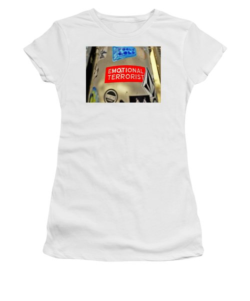 Emotional Terrorist In New York  Women's T-Shirt (Junior Cut) by Funkpix Photo Hunter