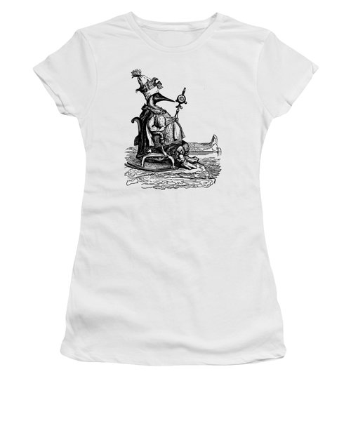 Women's T-Shirt featuring the digital art Empire Penguin Grandville Transparent Background by Barbara St Jean