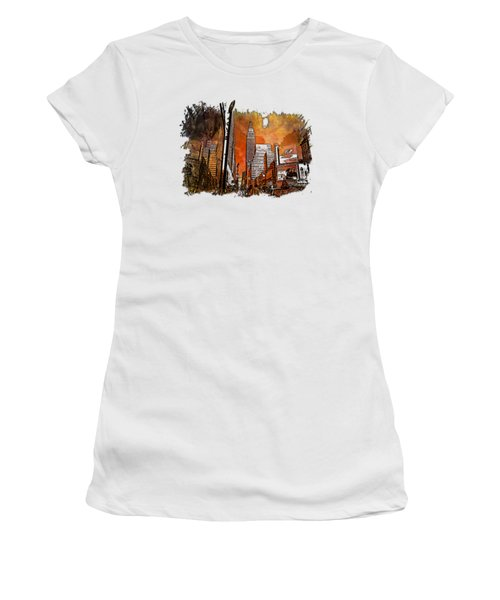 Empire State Reflections Earthy Rainbow 3 Dimensional Women's T-Shirt