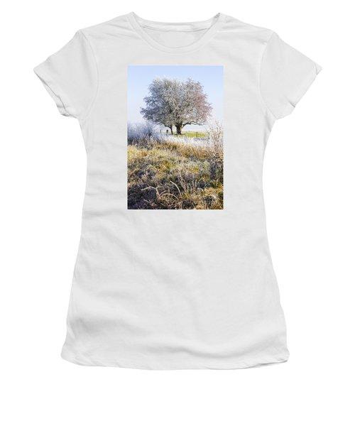 Enchanting Snow Covered Landscape Women's T-Shirt