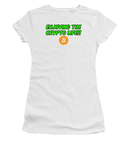 Enjoy The Crypto Life #2 Women's T-Shirt (Athletic Fit)