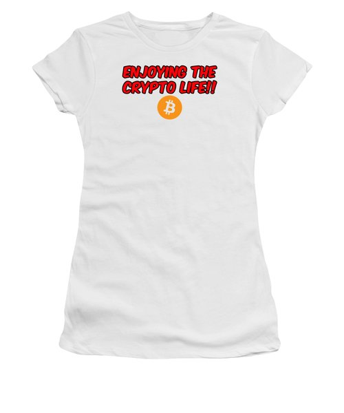 Enjoy The Crypto Life #3 Women's T-Shirt (Athletic Fit)