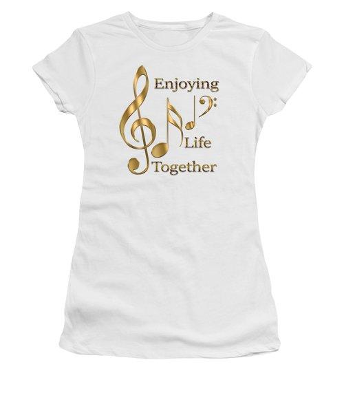 Enjoying Life Together Women's T-Shirt (Junior Cut) by Georgeta Blanaru