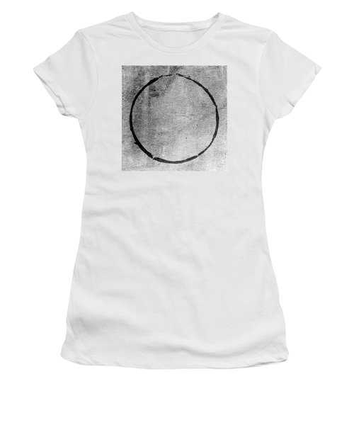 Women's T-Shirt (Junior Cut) featuring the digital art Enso 2017-24 by Julie Niemela