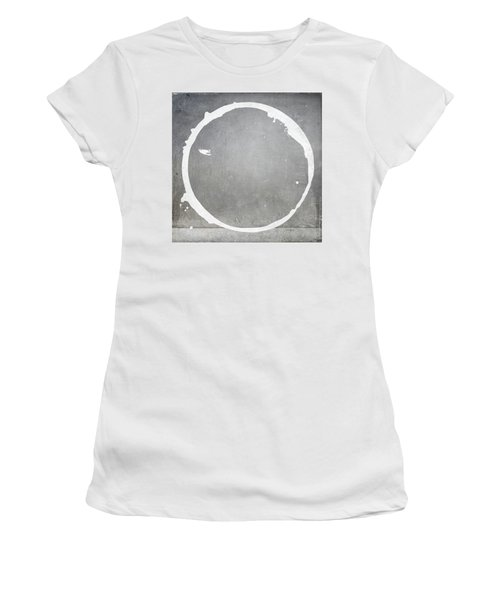 Women's T-Shirt (Junior Cut) featuring the digital art Enso 2017-28 by Julie Niemela