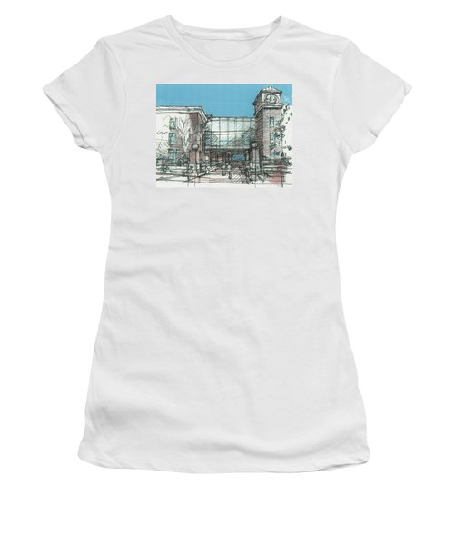Entry Plaza Women's T-Shirt (Junior Cut) by Andrew Drozdowicz