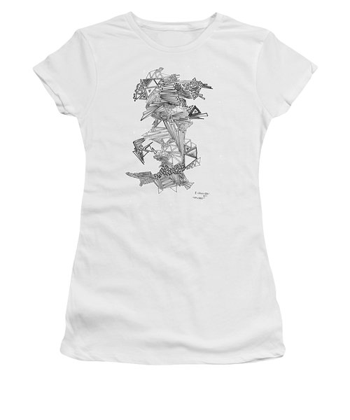 Epitaxy Ink Drawing By Regina Valluzzi Women's T-Shirt