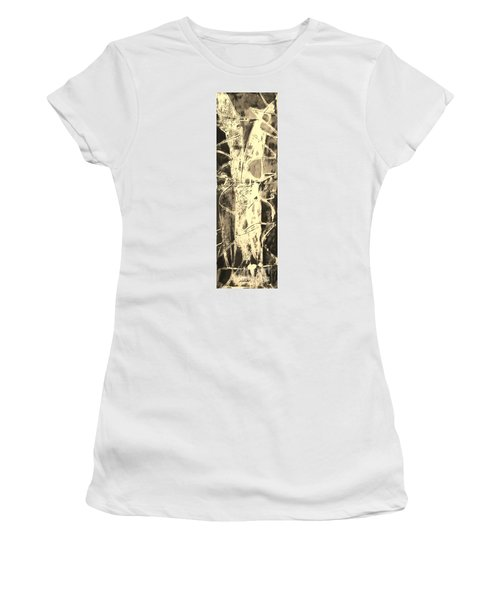 Women's T-Shirt (Junior Cut) featuring the painting  Equity by Carol Rashawnna Williams