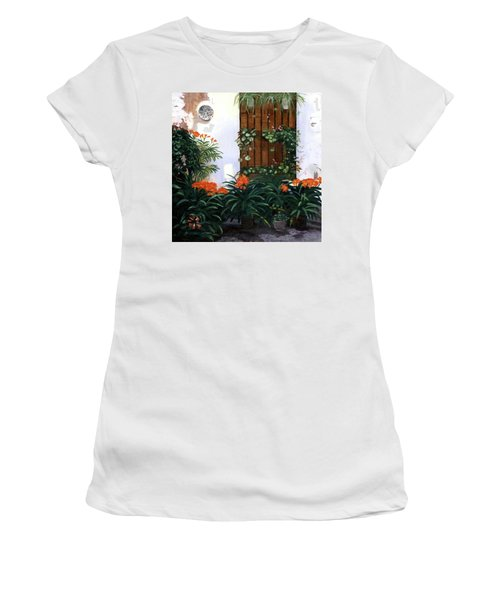 Women's T-Shirt (Athletic Fit) featuring the painting Espana by Lynne Reichhart