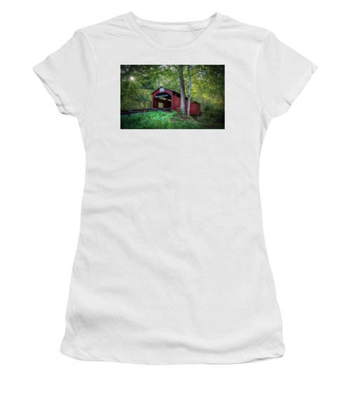 Women's T-Shirt (Junior Cut) featuring the photograph Esther Furnace Bridge by Marvin Spates