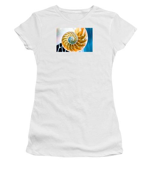 Eternal Golden Spiral Women's T-Shirt (Junior Cut) by Colleen Kammerer