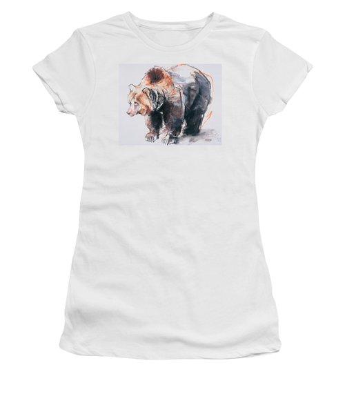 European Brown Bear Women's T-Shirt (Athletic Fit)
