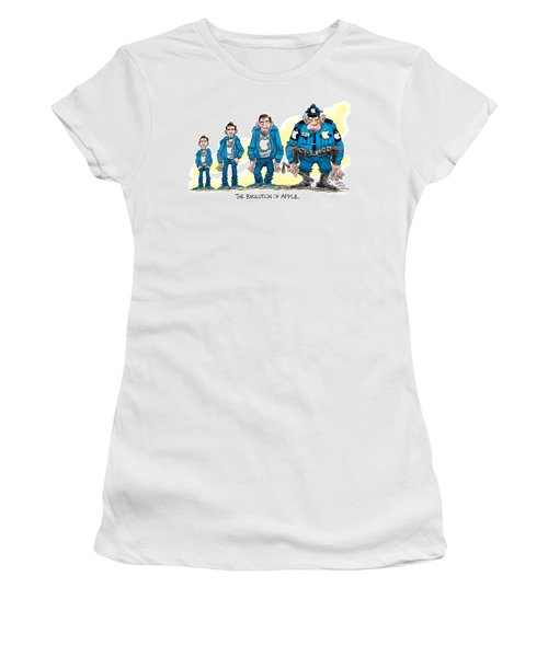 Evolution Of Apple Women's T-Shirt