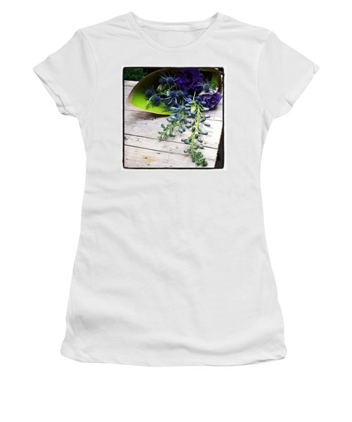 Women's T-Shirt featuring the photograph Excellent Customer Service. #flowers by Mr Photojimsf