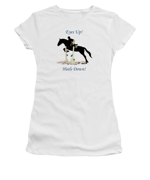 Eyes Up, Heels Down Horse Women's T-Shirt (Athletic Fit)