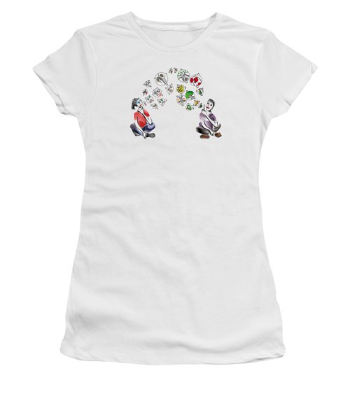 Faces And Forest Bubbles Women's T-Shirt