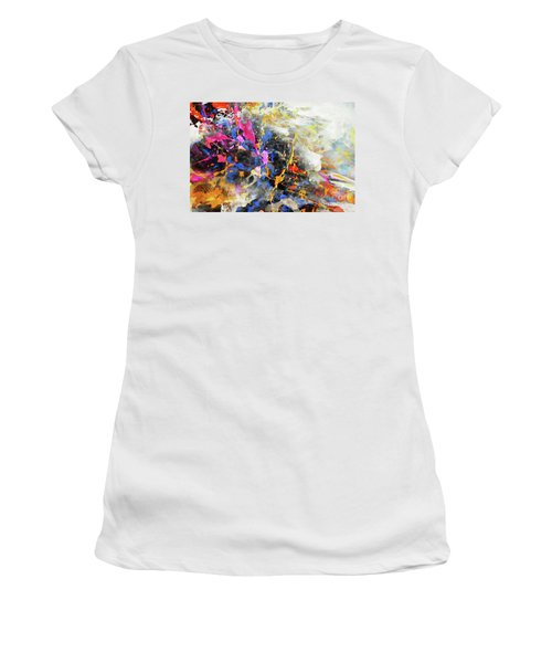Women's T-Shirt (Athletic Fit) featuring the digital art Faith Remains by Margie Chapman